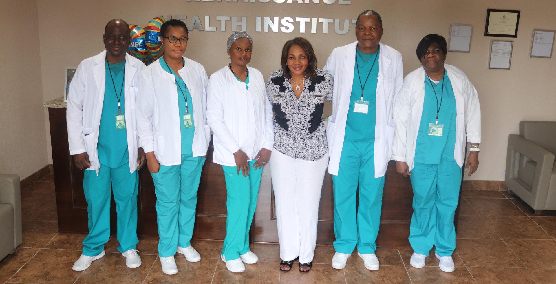 group of nurse standing