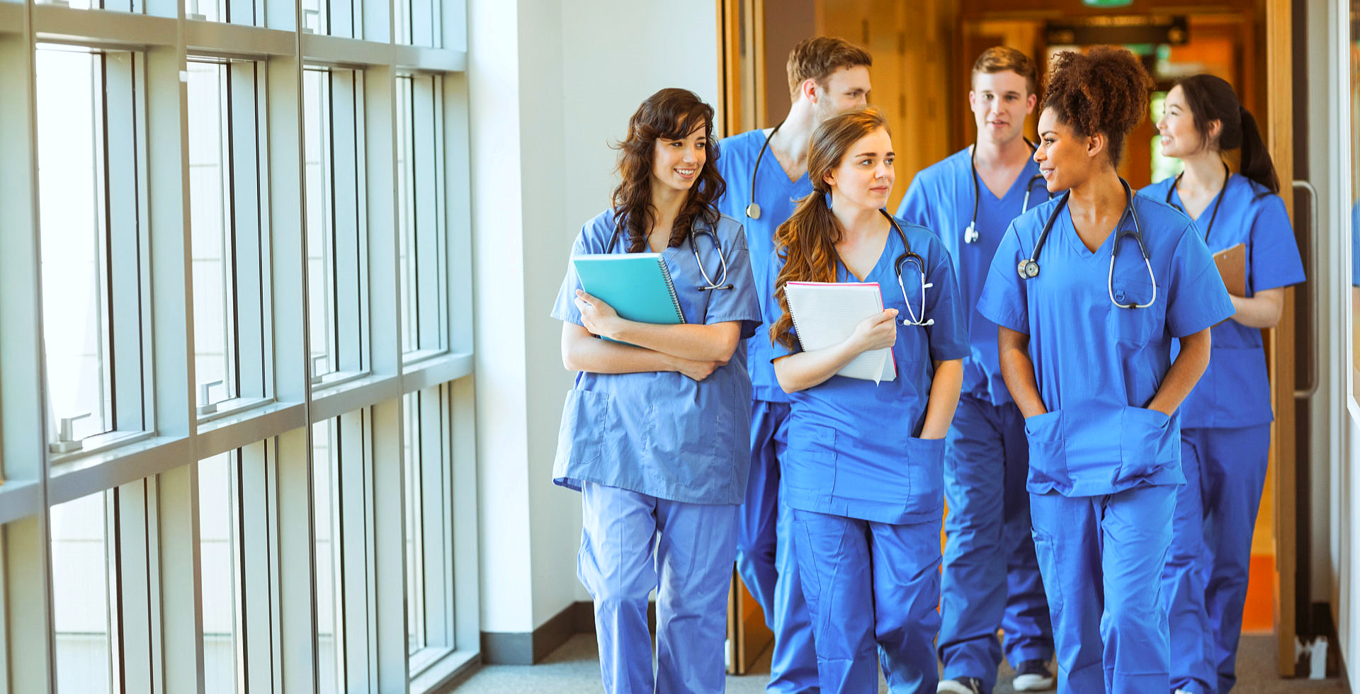 Group of student doctors