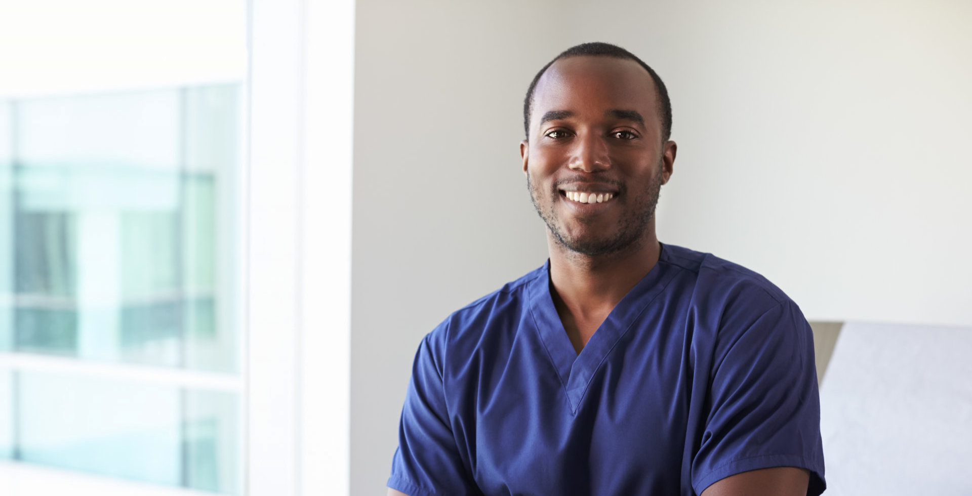 Nurse smiling at the camera