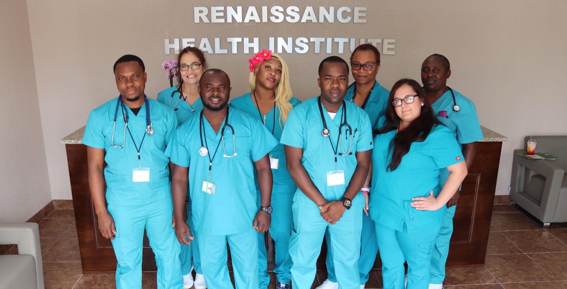 Group of student nurse
